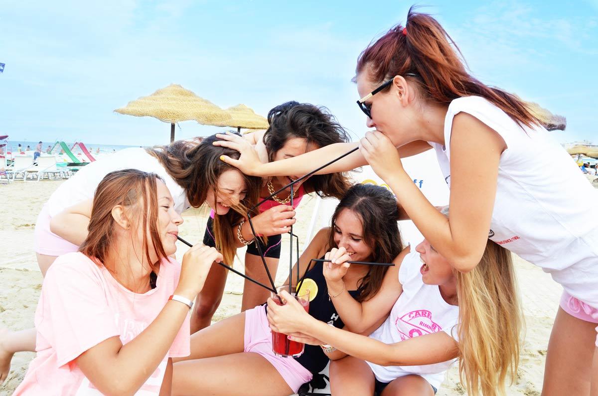 Hotel für junge Leute in Rimini - Strandspaß jeden Tag